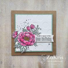 Stampin' Up! - Birthday Blooms, Gorgeous Grunge, Suite Sayings - ZoKris