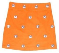 Women's Embroidered Stadium Skirt - Clemson (Orange) by Pennington & Bailes.  Buy it @ ReadyGolf.com