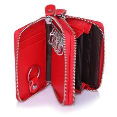 4 Colors Brand Multifunction Bag Women & Men Genuine Cow Leather Key Holder Double Zipper Key Card Wallet Car Key Case,YK946