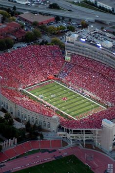 Sea Of Red, Lincoln Nebraska - I'm there somewhere, Section32 Row 27. My home away from home.