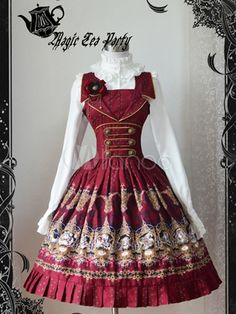 [$92.99] Sweet Pure Cotton Monk Strap Buckles Lolita Jumper Skirt