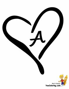 Free Heart Alphabet Letters And Numbers To Print Out Or Color In For Valentines Birthdays Mothers Day