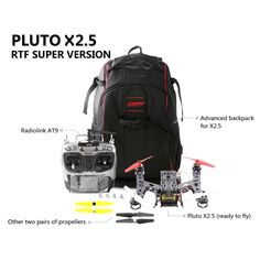 Pluto X2.5250 Frame ComboRadioLink AT9 Transmitter CC3D 10A ESC RTF From 249,= for Euro 186,80