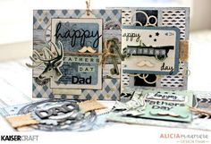 Kaisercraft Barber Shoppe Father's Day Cards by Alicia McNamara