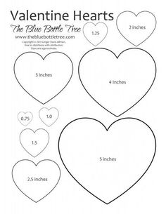 Heart Printable ClipArt Valentine Hearts Clip Art, in sizes ranging from to printing on either letter or sized paper.Valentine Hearts Clip Art, in sizes ranging from to printing on either letter or sized paper. Valentines Day Decorations, Valentine Day Crafts, Valentine Heart, Printable Valentine, Valentine Template, Heart Decorations, Printable Heart Template, Bow Template, Printable Hearts