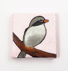 Original Bird Painting Fridge Magnet Mini by desertvalleystudio $15