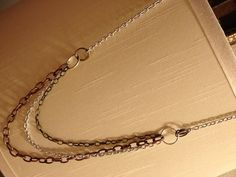 Mixed Metal 3 and 1 Chain Necklace by MetalMomJewelry on Etsy, $25.00