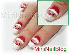 santa nail art - Google Search