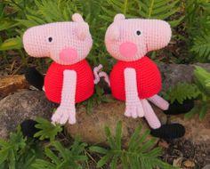 Peppa Pig de ganxet. Patró gratuït // Peppa Pig de ganchillo. Patrón gratis // Crocheted Peppa Pig. Free pattern// AMIGURUMI