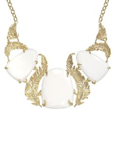 Iggy Feather Necklace in White - Kendra Scott Jewelry