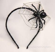 Halloween headband, the spiders web, Halloween accessory hair.
