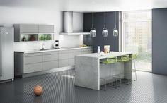 Bilderesultat for kjøkkeninspirasjon Design Pas Cher, Cuisines Design, Kitchen Interior, Kitchen Island, Kitchens, Fredrikstad, Home Decor, Google, Image