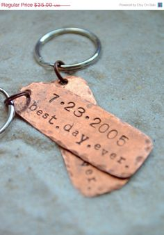 sale anniversary keychains husband gift husband and wife gift best day ever keychain