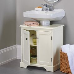 Great Solution For Pedestal Sinks But Needs To Be A Few Inches Higher.