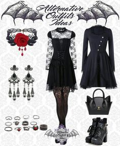 Gothic Dress, Gothic Outfits, Emo Outfits, Fashion Outfits, Alternative Outfits, Alternative Fashion, Gothic Fashion, Punk Fashion, Aesthetic Grunge Outfit