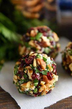 Tiny Bites -cranberry pecan goat cheese truffles