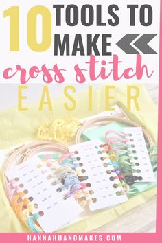 Cross Stitch Beginner, Cross Stitch Thread, Cross Stitch Borders, Cross Stitch Designs, Cross Stitching, Cross Stitch Embroidery, Cross Stitch Patterns Free Disney, Hand Embroidery Tutorial, Embroidery Ideas