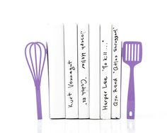 Bookends Spatula and whisk these bookends by DesignAtelierArticle, $49.00