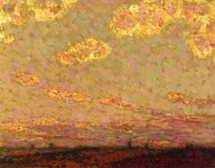 Henri Le Sidaner (French, 1862-1939), Sunset at Gargeroy. Oil on panel, 26.5 x 34.3cm.