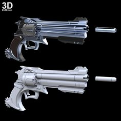 3D Printable Model: McCree Peacekeeper Revolver Blaster Rifle Gun from Overwatch | File Formats: STL OBJ – Do3D.com