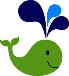 Green And Navy Whale Clip Art at Clker.com - vector clip art online ...