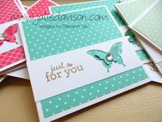 Stampin' Up! In Color Butterfly Punch Cards by Julie Davison, http://juliedavison.com