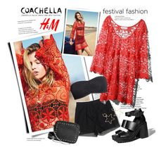"""H&M x Coachella Festival Style"" by sella103 ❤ liked on Polyvore featuring H&M"