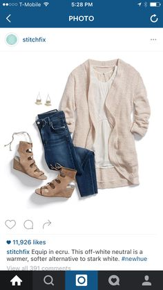 From StitchFix Insta... Cute, love the textures and off white.