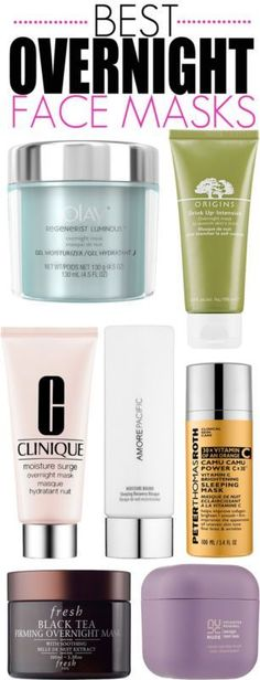 BEST Overnight Face Masks to Nourish and Brighten Skin While You Sleep #skincaretips