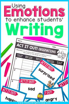 Do your elementary students lack details in their writing? The Show, Don't Tell writing strategy is the perfect way to encourage students to describe how a character is feeling instead of just stating the emotion word. Students can use the printable recording sheet in their readers notebooks to record details from mentor texts to describe characters. These ideas can be used into their own personal narratives! Easy and effective! #thereadingroundup #writersworkshop #springactivitiesforkids Reading Games For Kids, Reading Resources, Vocabulary Instruction, Vocabulary Activities, Fourth Grade, Third Grade, Creative Writing Stories, Emotion Words, Writing Folders