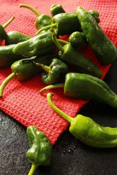 Pimientos del padrón. So tasty, but unpredictable. A spicy one in every batch!