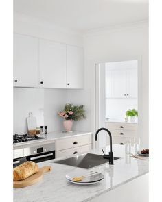 Sitting pretty, the soft palette of this kitchen space is brought to life thanks to the perfect balance of materials and colours. Cremasala, nougat truffle and mayonella, oh my! Kitchen Vanity, Kitchen Reno, New Kitchen, Kitchen Ideas, Rustic Kitchen, Country Kitchen, Home Salon, Dream Home Design, House Design