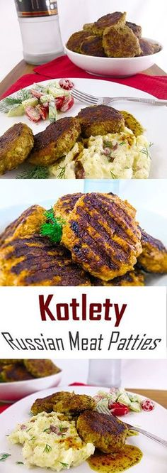 KotletyDELICIOUS Russian Meat Patties Theyre comfort food Eastern European style You can call them bunless burgers or large meatballs if you prefer Eastern European Recipes, European Cuisine, European Style, Ukrainian Recipes, Russian Recipes, Slovak Recipes, Hungarian Recipes, Ukrainian Food, Romanian Recipes