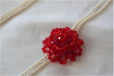How to make a Swarovski Rose.  #Seed #Bead #Tutorials