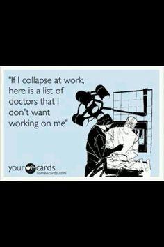 Oh, how I could SO make a list like this!!! (It's a nurse thing...)
