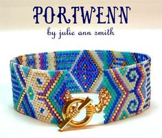 Julie Ann Smith Designs PORTWENN Odd Count Peyote Bracelet