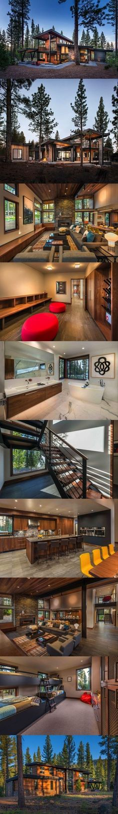 Interesting roof lines Container House - Chalet Who Else Wants Simple Step-By-Step Plans To Design And Build A Container Home From Scratch? Building A Container Home, Container House Design, Chalet Modern, Modern Cabins, Modern Cottage, Casas Containers, Shipping Container Homes, Shipping Containers, House Goals