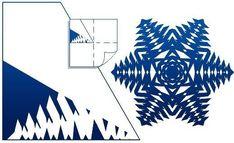 How to DIY Pretty Kirigami Snowflakes (Free Template) | www.FabArtDIY.com