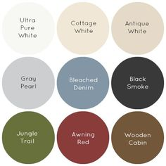 Favorite paint colors for a farmhouse. (Behr) Im pretty much in agreement with this. I especially LOVE Awning Red! - http://www.homedecoz.com/home-decor/favorite-paint-colors-for-a-farmhouse-behr-im-pretty-much-in-agreement-with-this-i-especially-love-awning-red/