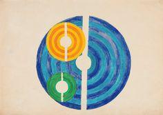 Sem título, c. 1950 lápis de cor sobre papel 35 x 49,5 cm Waldemar Cordeiro Luciana Brito Galeria