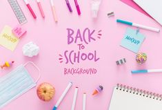 School Supply Labels, School Supplies, Back To School, Backgrounds, Design, Free, Campaign, Notebooks