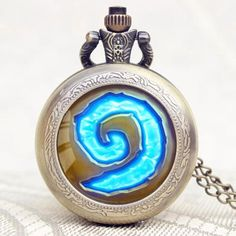a9dcb6aed Hot Game WoW World of Warcraft Hearthstone Theme Glass Dome Case Quartz  Pocket Watch With Chain. R.O. Salars Jewelry