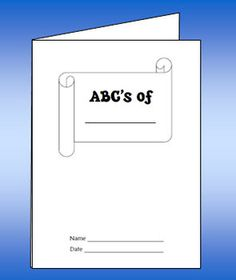 How might you use this blank ABC booklet freebie? You can create it from just two sheets of paper!