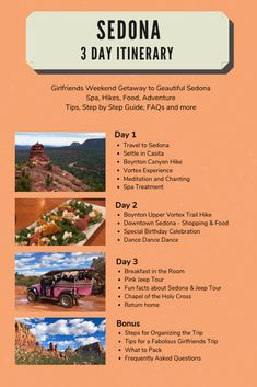 How to Enjoy the Best Weekend Spa Getaway - a Sedona Vacation - Story at Every Corner Arizona Travel, Sedona Arizona, Arizona Trip, Sedona Shopping, Best Weekend Getaways, Girls Getaway Weekend, Visit Sedona, Travel Around The World, Around The Worlds