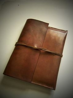 Leather Document Case Folio Attache Full by BayTowneLeatherUSA