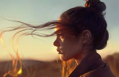 Warm by Astri-Lohne on DeviantArt L'art Du Portrait, Portrait Lighting, Portrait Photography Poses, Girl Photography, Photographie Portrait Inspiration, Photo Reference, Aesthetic Pictures, In This Moment, Illustration