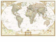 Classic world map wallpaper stylish map mural muralswallpaper escolha de obama estilo retro vintage 1 pea world map wall art papel mapa global poster gumiabroncs Images