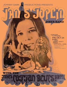 """JANIS JOPLIN 1969  Concert Poster Wichita, KS  • 100% Mint unused condition • Well discounted price + we combine shipping • Click on image for awesome view • Poster is 12"""" x 18"""" • Semi-Gloss Finish • Great Music Collectible - superb copy of original • Usually ships within 72 hours or less with tracking. • Satisfaction guaranteed or your money back.Go to: Sportsworldwest.com"""