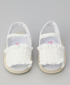 Take a look at this Rugged Bear White Eyelet Sandal by Rugged Bear & Rainbow Kids on @zulily today!