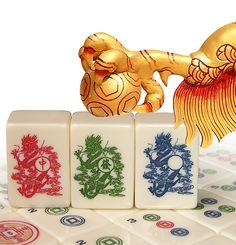 Red Coin Mah Jong Sixth Edition 2012, The Dragon & Phoenix Set: Dragon tiles